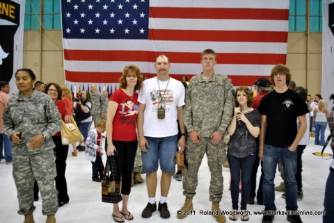 PFC Thomas Riddle along with his mother and father Kelly & Steve Riddle, Brother John Riddle and his girl friend Emily Crossland