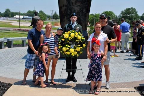 Allison Smith, Randy Ball, Steven and Katrina Morris along with their children Madison, Bella and Lucas Morris.
