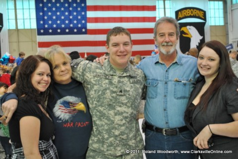 SGT Charles Sweeney, Fiancee Sarah Spencer, Parents Ray & Betty Sweeney and friend Lindsey