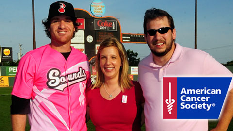 Nashville Sounds wore special pink-colored jerseys in support of breast cancer awareness.