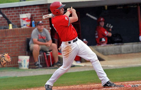 Shortstop Reed Harper had three hits and three RBI in Saturday's doubleheader against Southeast Missouri, extending his hit streak to 25 games. (Austin Peay Sports Information)