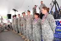 B.O.S.S. soldiers after their medallions were presented