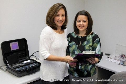 "Dr. Emiko ""Emi"" LeJeune and Dr. Aubrey Carr at the Center for Audiology in Clarksville, TN"
