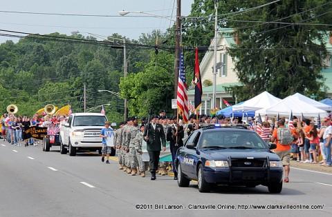 The 2011 Eagle Fest Parade in Dover, TN
