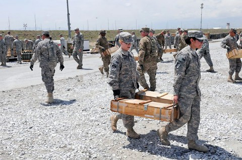 Lifeliners learn about ammunition movements during leadership training