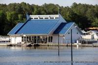 Paris Landing Marina currently flooded from the high waters of Kentucky Lake.