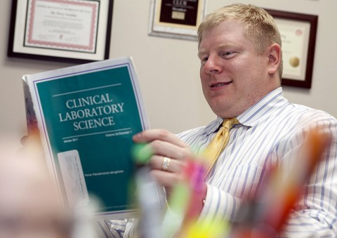 Dr. Perry Scanlan, director of Austin Peay State University's medical technology program