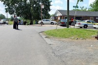 Shooting scene at Kellogg and Farris. (Photo CPD-Jim Knoll)