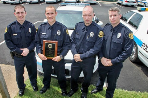 (Left to Right) Seth Paugh, Nathan Lee, Robert Thompson, and Joshua Godwin. (Photo by Jim Knoll-CPD)