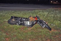 Motorcyclist dies after being thrown from his motorcycle. (Photo by CPD-Jim Knoll)