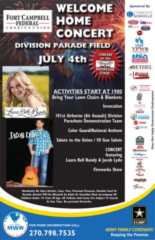 MWR and Cumulus Nashville's 95.5-FM WSM Present Fort Campbell Federal Credit Union's Welcome Home Concerts