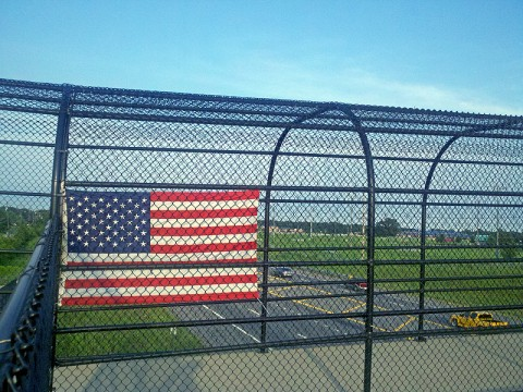 Donated American Flags will be placed on the 101st Pedestrian Bridge.