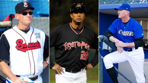 Lorenzo Bundy (middle) will be joined by Tommy Gregg (right) and Rich Gale (left) as the three members of the PCL All-Star field staff. (Nashville Sounds)