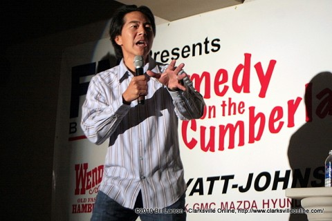 Henry Cho performing at the Comedy on the Cumberland.
