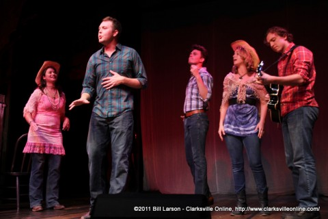 The cast of Almost Heaven, the John Denver Musical