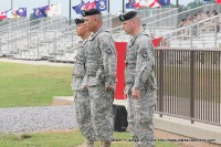 Maj. Gen Campbell (Center) stands with Col Luong, and Col. Lillibridge