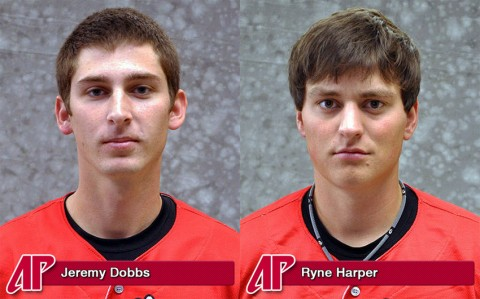 Jeremy Dobbs and Ryne Harper were selected in the 2011 Major League Baseball First-Year Player Draft, Wednesday.