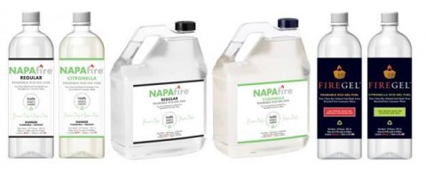 NAPAfire and FIREGEL Pourable Gel Fuel recalled