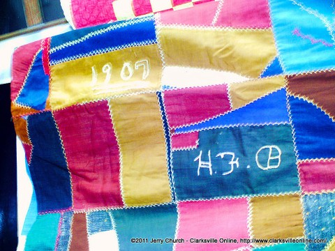 This vibrant quilt was created in 1907