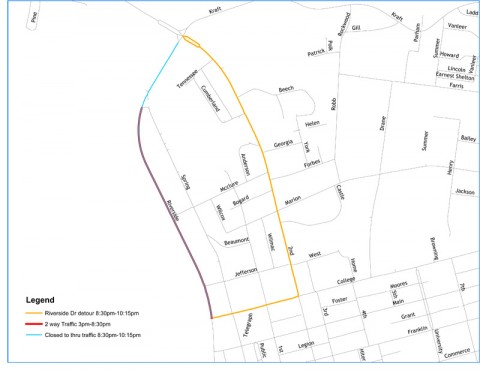 Road Closures for July 3rd