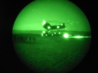 Soldiers from Company C, 1st Battalion, 506th Infantry Regiment, 4th Brigade Combat Team, 101st Airborne Division, Task Force Currahee, lift off to conduct an air assault mission during the early morning hours of June 23rd. (Courtesy Photo)