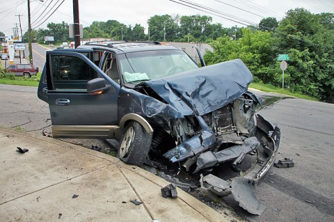 The 2003 Ford Expedition that collided with a 97 Ford F-150 on Madison Street