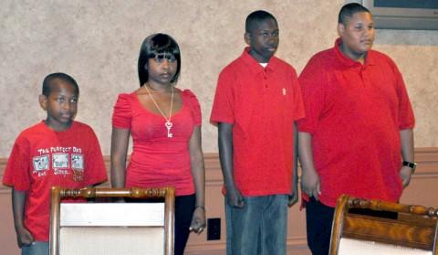 Stephon Jenkins, Shiniqua Darrett, Stacey Jenkins, and Daquan Orebo