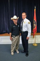 Officer Bechtold with Chief Ansley. (CPD-Jim Knoll)