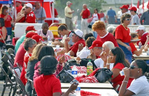 Austin Peay's Tailgate Alley. (Austin Peay Sports Information)