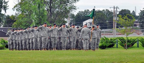 716th Military Police Battalion Change of Command Ceremony. (Photo by Megan Locke, Courier)