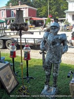 A small suit of armor was on sell at the Heart of Trenton Festival