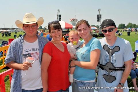 SPC Donald Daniels, Kimberly Daniels, Melinda Morgan, SPC Joseph Morgan and their son Curtis Joe Morgan