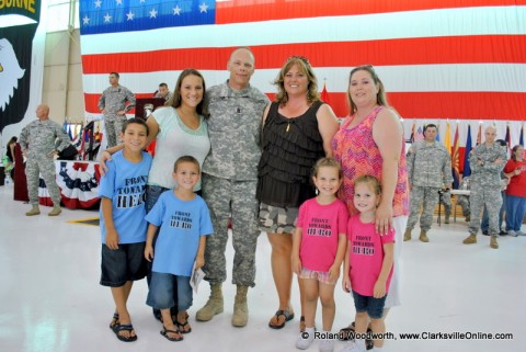 Sargent Major Noel Foster along with his wife Lanette along with Jessica Roche, her two sons Miguel & Giovanni Roche and Brandy Jones and her two daughters Shelny & Brooklyn