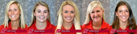 Catie Tucker, Ashley Wathen, Holly Batey, Tabitha Beard and Rachel Deaton were named to the National Golf Coaches Association (NGCA) All-American Scholar Team for Division I.