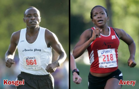 The Govs Geofrey Kosgei and Lady Govs Janelle Avery will lead their respective squads during the 2011 cross country campaign. (Courtesy: Austin Peay Sports Information)