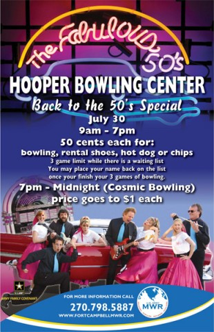 Bowl Back to the 50's at Hooper Bowling Center
