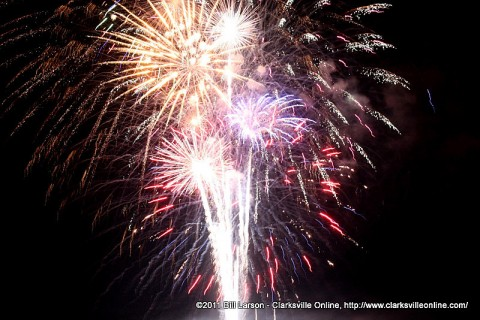 The finale of the fireworks show