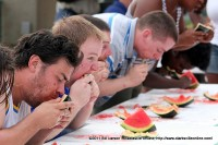 Some of the 18-45 group at the Watermelon Eating Contest