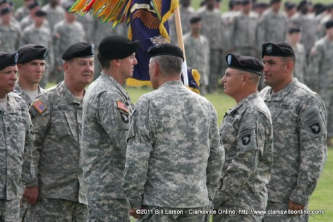 The passing of the Regimental Colors
