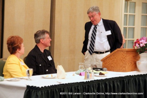 Dr. Howard Winn introduces William Farris, the keynote speaker at the 2011 Clarksville Writer's Conference Banquet
