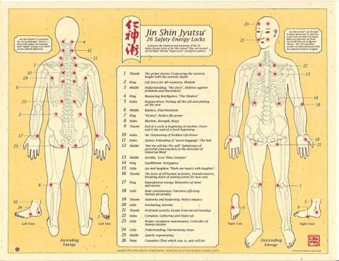 The 26 Jin Sin Jyutsu Energy Lock Points