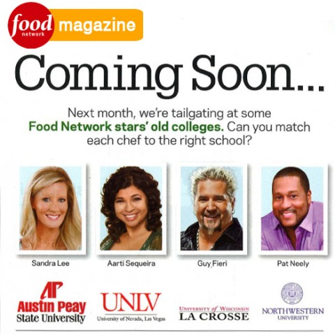 APSU is mentioned in the newest Food Network Magazine.
