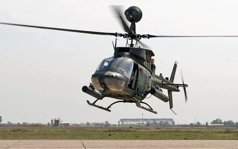 OH-58D Kiowa Warrior Helicopter similar to the one that crashed today.