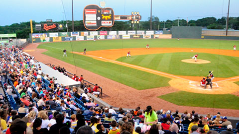 Nashville Sounds Baseball. (Mike Strasinger)