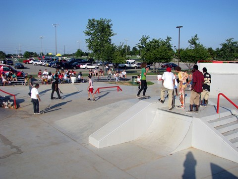 """Party in the Park"" at the Heritage Park Skate Park."