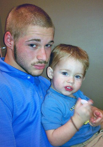 Evan with his son, Ericc.