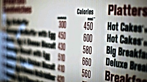 Calorie labeling on restaurant menus