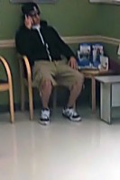 Suspect in Rite Aid earlier in the day.