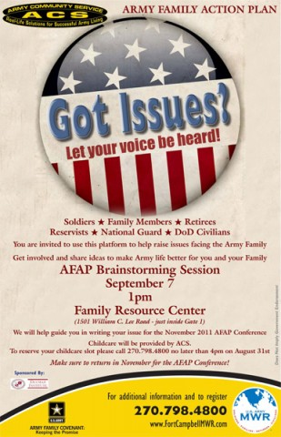 2011 Army Family Action Plan (AFAP) Issue Forum