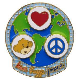 Build-A-Bear Workshop, Love.Hugs.Peace lapel pins recalled